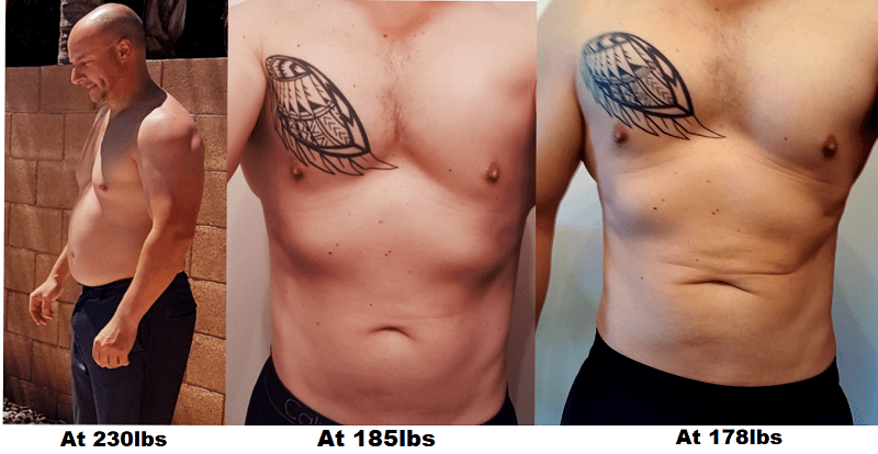 Weight Loss For Men Before and After